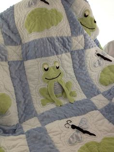 Frog Quilt by WeeziesWorkshop on Etsy. $295.00, via Etsy. If only it wasn't so $$$!