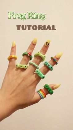 Fimo Ring, Polymer Clay Ring, Polymer Clay Crafts, Diy Crafts Jewelry, Fun Diy Crafts, Ring Crafts, Diy Clay Rings, Ring Tutorial, Diy Accessoires