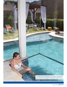 piscina com sauna e cascata - Google Search