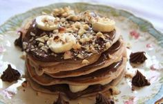 Pancakes con nutella e banane, la ricetta