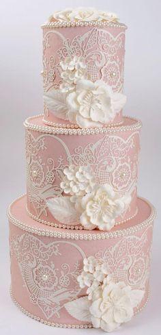 Indescribable Your Wedding Cakes Ideas. Exhilarating Your Wedding Cakes Ideas. Elegant Wedding Cakes, Elegant Cakes, Beautiful Wedding Cakes, Gorgeous Cakes, Wedding Cake Designs, Pretty Cakes, Amazing Cakes, Lace Wedding, Wedding Blush