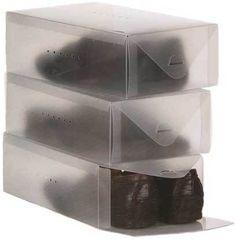 3 Stück Schuhkasten Schuhablage Schuhbox Schuhschrank Schuhregal Kommode faltbar