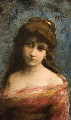 Leon Jan Wyczolkowski Portrait of a Young Woman 1883 Painting Oil on Canvas x Fine Art Giclee Canvas Print (Unframed) Reproduction Female Portrait, Female Art, Art Critique, Art Through The Ages, Blonde Hair With Highlights, Graduation Pictures, Realism Art, Trendy Clothes For Women, Jaba