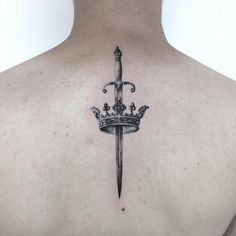 Unique Crown Tattoo Designs & Meanings - Buy lehenga choli online - Tattoos For Women Small Unique Tattoo Designs And Meanings, Tattoo Designs For Women, Tattoos For Women Small, Small Tattoos, Unique Tattoos, Beautiful Tattoos, Cool Tattoos, Sword Tattoos For Women, Tattoos For Guys