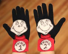 Thing 1 and Thing 2 Glove Puppets