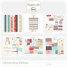 Project Life Scrapbooking Kit in Clementine...oh how I LURVE (LOVE) thee!...