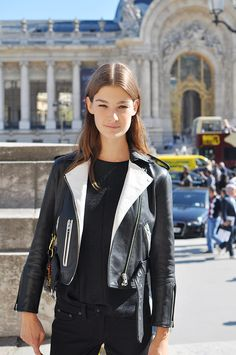 that moto. #OphelieGuillermand #offduty in Paris.