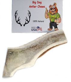 Split Elk Antler Dog Chew, X-Large, Extra Thick, 6 to 8 inches, Grade A Premium, natural healthy long-lasting treat ** Special dog product just for you. See it now!   Dog treats