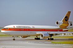 McDonnell Douglas DC-10-10,  Continental Airlines at Chicago O'Hare Airport