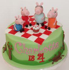 peppa family picnic cake | Flickr - Photo Sharing!