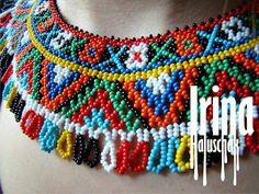 Ukrainian national juwelry. Sead bead necklace. Beadwork. Українська народна прикраса з бісеру. Бісероплетіння.