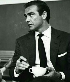 Sean Connery and his coffee