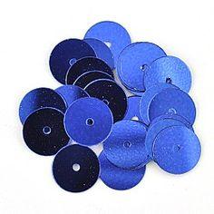 8mm Flat Round Sequins 6570 Blue