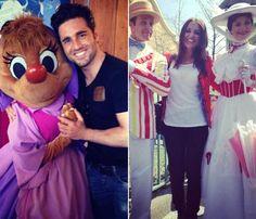 Paula Echevarría y David Bustamante se lo pasan como niños en Disneyland París