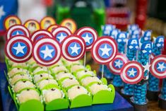 Alice Fashionando: Ideias incríveis para decorar sua festa do tema Vingadores Avengers Birthday, Superhero Birthday Party, Birthday Favors, Boy Birthday Parties, Captain America Birthday, Superhero Baby Shower, Baby Party, Party Time, Marvel
