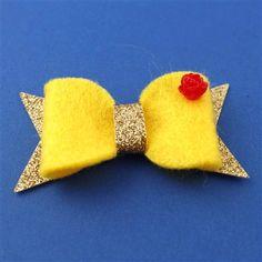 Belle's Ball Gown Felt Hair Bow - Disney - Beauty & the Beast