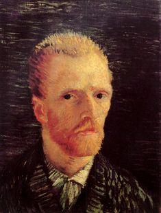 Vincent van Gogh: Self-Portrait. Oil on canvas.  Paris: Summer, 1887.  Amsterdam: Van Gogh Museum.