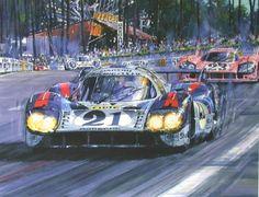 Giclee Gallery - Nicholas Watts - 1971 Le Mans Martini Porsche 917 LH