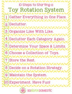 10 Steps to starting a Toy Rotation System: #sodamndomestic