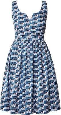 Orla Kiely Poolside Print Cotton Poplin Strappy Dress / Wantering