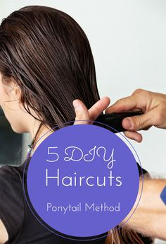 5 DIY Haircuts Ponytail Method - The 21 Day Challenge