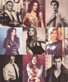 Rizzoli & Isles characters  left to right - Berry Frost, Jane Rizzoli, Frankie Rizzoli, Constance Isles, Maura Isles, Hope Martin, Vince Korsak, Angela Rizzoli, and Tommy Rizzoli.