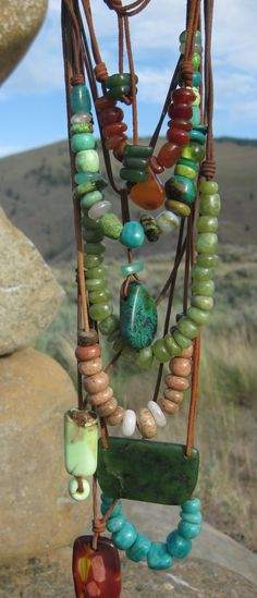 Hand made beads from rare and semi-precious stones: http://manitoubeads.com/