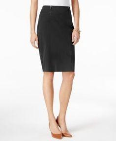 Alfani Petite Double-Zip Pencil Skirt, Only at Macy's -