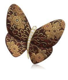 Kikumakie clip, Lacquered Butterflies collection Image 2 - Van Cleef & Arpels