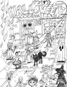 halloween therapy coloring pages - photo#10