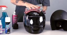 How to Clean a Motorcycle Helmet (inside and out)
