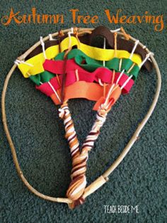 Try this beautiful and fun autumn tree weaving craft for kids! Weave a tree with felt and yarn and same sticks from your yard. Fall Arts And Crafts, Autumn Crafts, Fall Crafts For Kids, Kids Crafts, Holiday Crafts, Autumn Activities For Kids, Craft Activities, Activity Ideas, Fall Art Projects