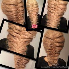 フィッシュテール編組アップヘアの髪型fishtail braid updo hairstyles 魚尾辮髮型高髻  تسريحات الشعر ...