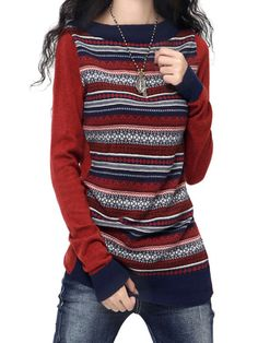 Casual Women O-neck Long Sleeve Cashmere Sweaters