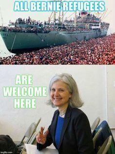 Bernie Or Bust, Jill Not Hill, Jill Stein 2016, Green Party