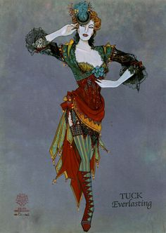 """Tuck Everlasting"" (new musical in development) Directed and Choreographed by Casey Nicholaw; Female Ensemble Country Carnival Girl Costume Designed by Gregg Barnes Broadway Costumes, Theatre Costumes, Ballet Costumes, Movie Costumes, Character Costumes, Costume Design Sketch, Carnival Girl, Tuck Everlasting, Bird Costume"