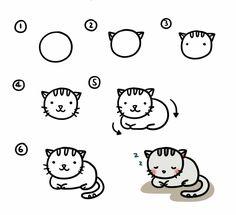 Les 15 meilleures images de dessin chaton en 2019