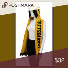 ATTN: Pittsburgh FANS! 🏈 Hooded knit SCARF As photo, even has 2 pockets to keep your hands warm during the game 🏈 Accessories Scarves & Wraps