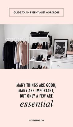 Guide to An Essentialist Wardrobe. If you've ever had the desire to declutter your wardrobe, this is for you. Also, if you're a fan of Greg McKeown's book Essentialism, this is a must-read.