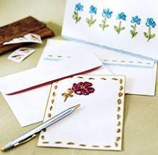Divertidas tarjetas bordadas con cintas - IMujer
