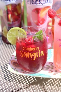 Mock-Tales with Mom - Celebrate summer with Ocean Spray mocktails in Cranberry Sangria /OceanSpray/ [ad]
