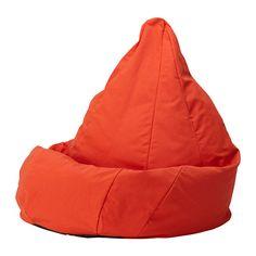 IKEA - ОЛМЕ, Пуфик-мешок, Висле красно-оранжевый,