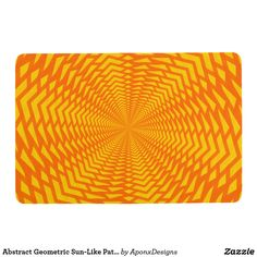 Abstract Geometric Sun-Like Pattern Floor Mat Floor Patterns, Floor Mats, Abstract Pattern, Personalized Gifts, Create Your Own, Sun, Flooring, Design, Customized Gifts