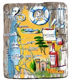 Marco Marella - Food and wine map of the area around Livorno, Italy