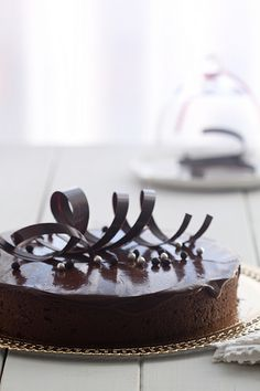 Tarta de chocolate y praliné de avellana