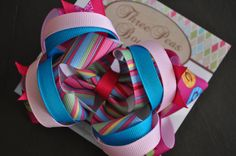 Easter Egg Boutique Bow by threepeasboutique on Etsy, $6.00