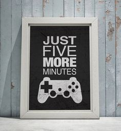 Gamer Wall Art Eat Sleep Game Repeat 8x10 or by ProjectPrintCo