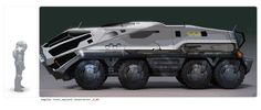 Prometheus Rover design, early sketch (approved)  This would make a great BOV with a little modification