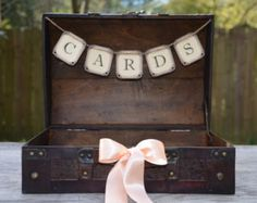 card box rustic  wedding