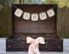 card box rustic  wedding